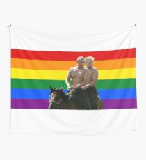 Trump and Putin Horse Wall Tapestry