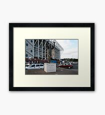 billy bremner outside elland road leeds united Framed Print