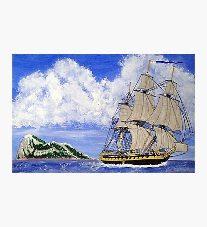 My acrylic painting of HMS Boreas Leaving Gibraltar - Capt Horatio Nelson Photographic Print