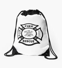 Firefighter Rescue Drawstring Bag