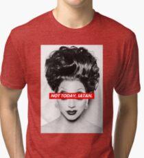Camiseta de tejido mixto No Hoy Satanás 003