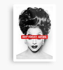 Not Today Satan 003 Metal Print