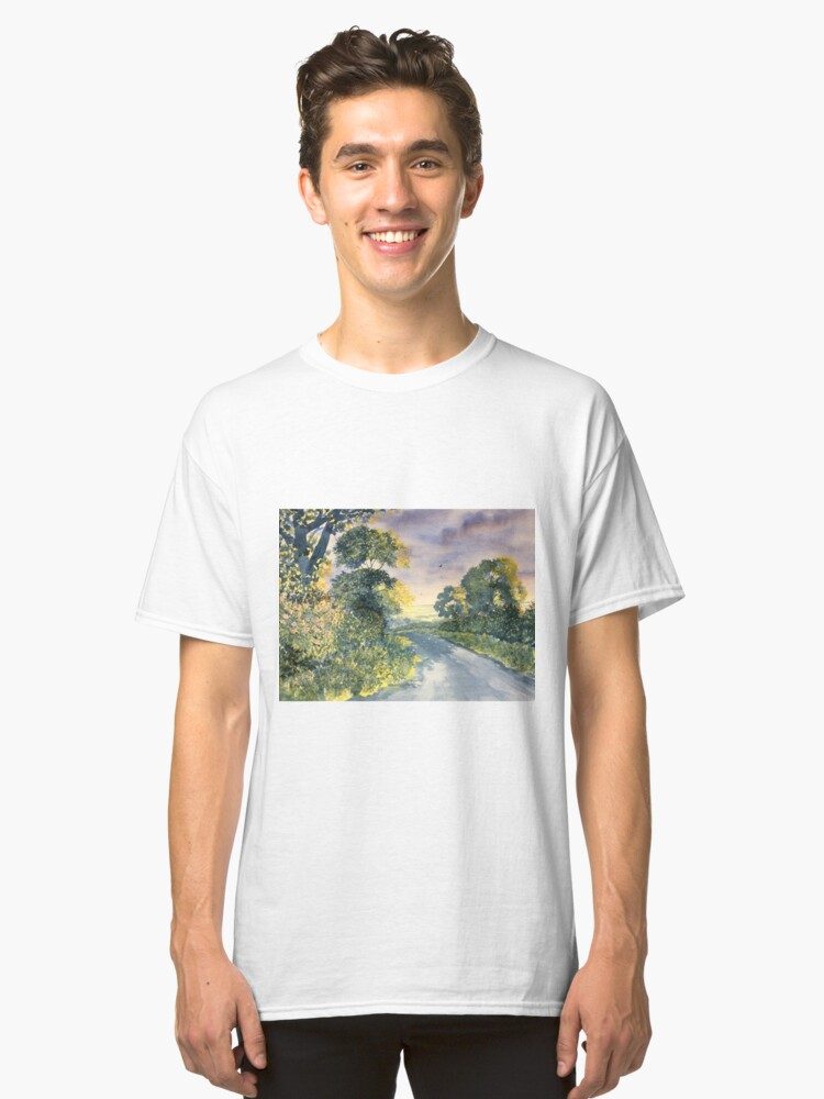 """Wild Roses on the Wolds"" Classic T-Shirt Front"