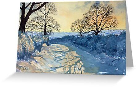 Winter Walk on Wykeham Road by Glenn  Marshall