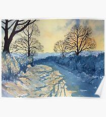 Winter Walk on Wykeham Road Poster
