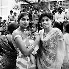 Two Girls Ganesh Festival Hyderabad by Andrew  Makowiecki