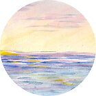 Circle VII sunset ocean by Jacob Thomas