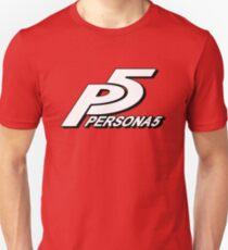 P5 Red Background Unisex T-Shirt