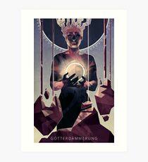 Götterdämmerung; The Twilight of the Gods.  Art Print