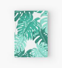 Tropical Green Monstera Print  Hardcover Journal