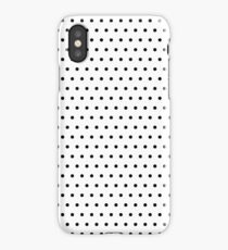 Polka / Dots - White / Black - Small iPhone Case/Skin