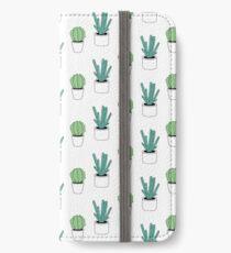 Green Cactus Print iPhone Wallet/Case/Skin