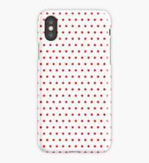 Polka / Dots - White / Red - Small iPhone Case/Skin