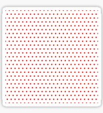 Polka / Dots - White / Red - Small Sticker