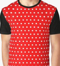Polka / Dots - Red / White - Small Graphic T-Shirt