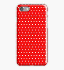 Polka / Dots - Red / White - Small iPhone Case/Skin