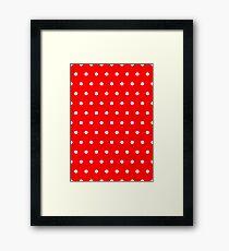 Polka / Dots - Red / White - Small Framed Print
