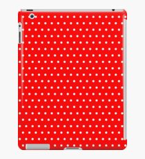 Polka / Dots - Red / White - Small iPad Case/Skin