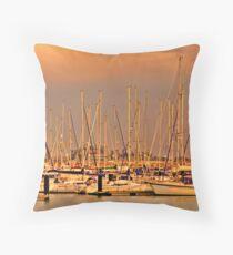 Harbour of Rota Throw Pillow