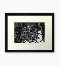 Lots of Bicycles Framed Print