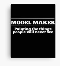 Model Maker Design Canvas Print