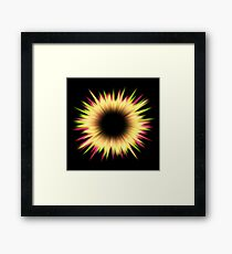 Light burst abstract design Framed Print