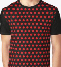 Polka Dots - Red / Black - Medium Graphic T-Shirt
