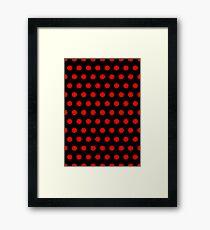Polka Dots - Red / Black - Medium Framed Print