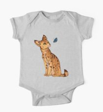 The Serval and the Butterfly One Piece - Short Sleeve