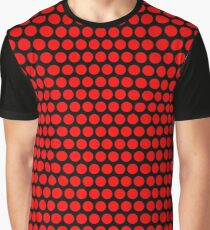 Polka / Dots - Red / Black - Large Graphic T-Shirt