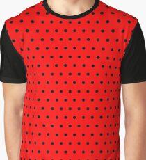 Polka / Dots - Black / Red - Small Graphic T-Shirt
