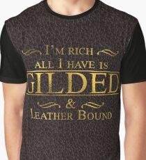 Trendy Gold Leaf Gilding Fashion Graphic T-Shirt