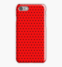 Polka / Dots - Black / Red - Small iPhone Case/Skin