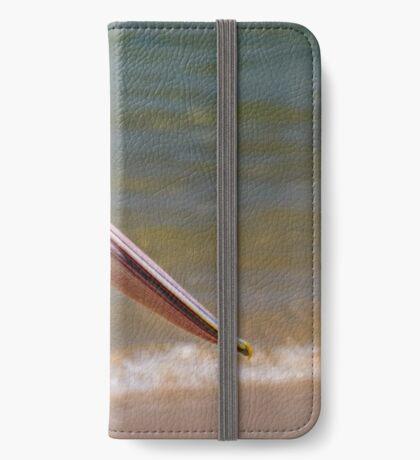 Aussie-Pelikanprofil iPhone Flip-Case