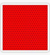 Polka / Dots - Black / Red - Small Sticker
