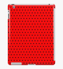 Polka / Dots - Black / Red - Small iPad Case/Skin