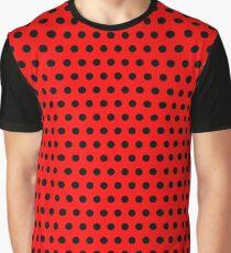 Polka / Dots - Black / Red - Medium Graphic T-Shirt