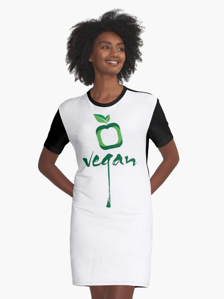 vegan Graphic T-Shirt Dress Front