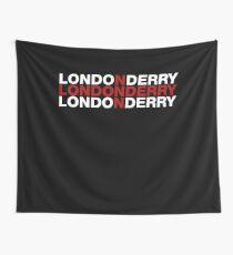 Londonderry United Kingdom Flag Shirt - Londonderry T-Shirt Wall Tapestry