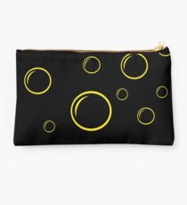 Black and yellow bubbles Studio Pouch