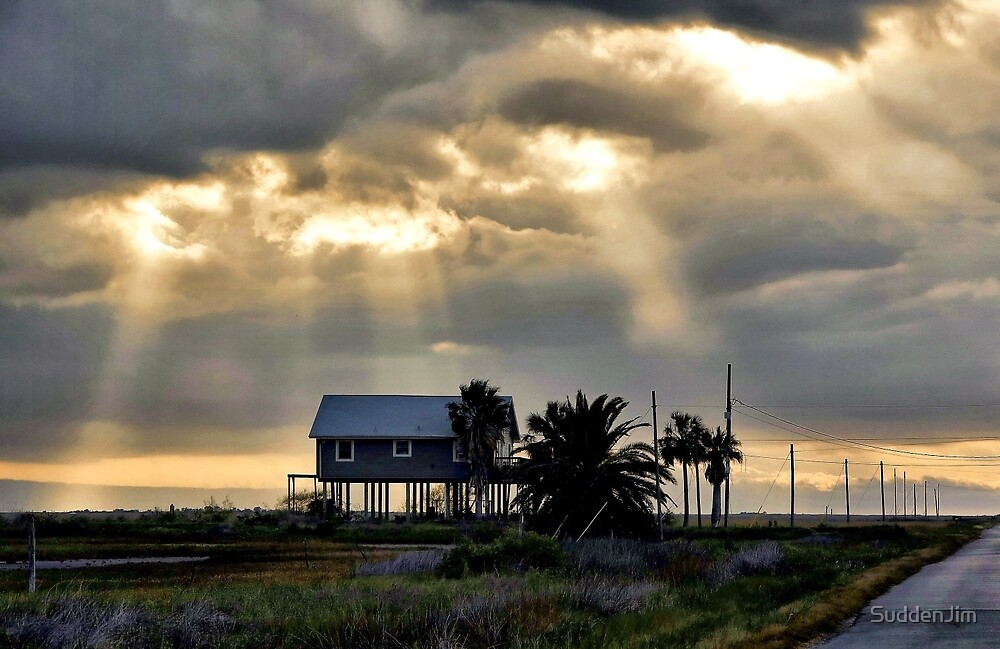 Beach House at Sunset by SuddenJim