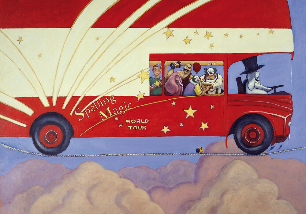 Spelling Magic Tour Bus by Daniel Rodgers