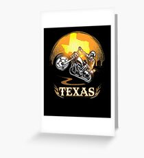 Texas Motorcycle Gang Hobby Graphic Design  Greeting Card