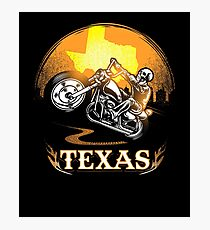 Texas Motorcycle Gang Hobby Graphic Design  Photographic Print