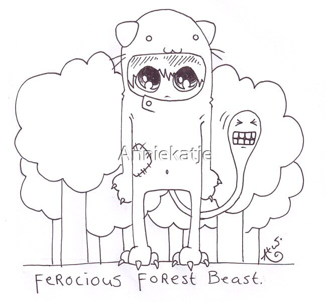 Forrest beast by Anniekatje