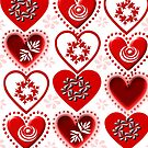 red heart pattern (134 Views) by aldona
