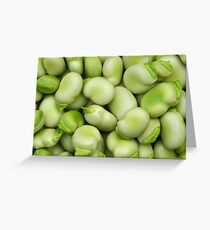 Broad Beans Greeting Card