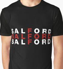 Salford United Kingdom Flag Shirt - Salford T-Shirt Graphic T-Shirt
