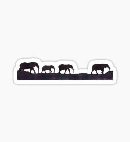 Lodge décor  - Mix & Match Throw Pillow - Elephants Sticker