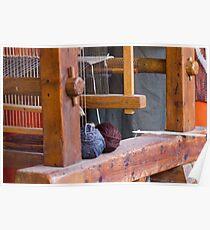 old loom weaving Poster
